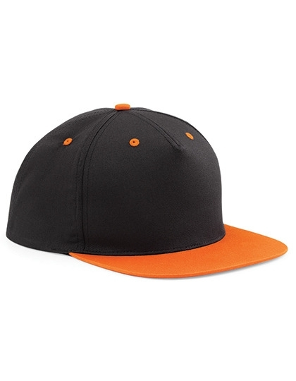 Kappe Snapback schwarz-orange