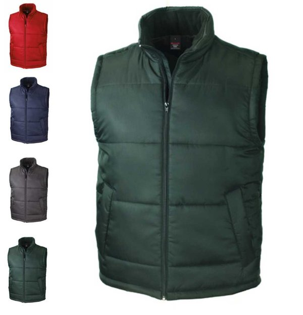 Bodywarmer Weste Result Core VALUE Gefütterte Damen Herren Westen Rot Navy Schwarz Bottle Grün