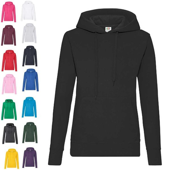 Ladies Classic Hooded Sweat Fruit of the Loom Fruit of the Loom Damen Hoodies Kapuzensweatshirt